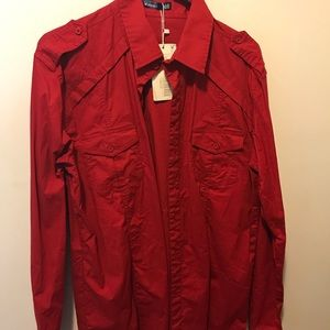 Men's Red dress shirt. NWT